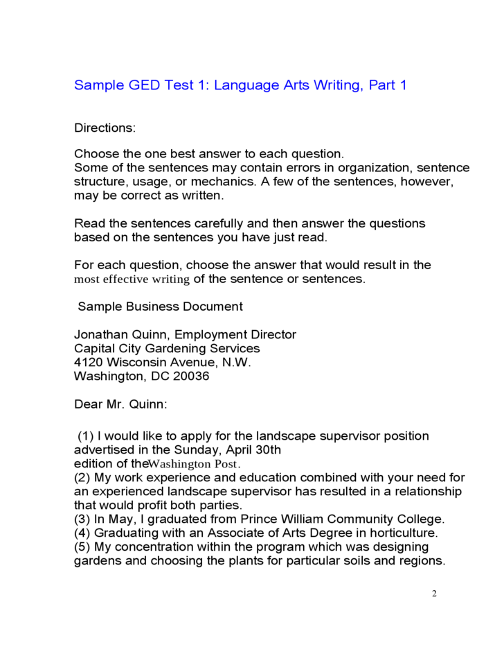 practice essay questions for ged test Canadian graduation equivalency degree, general educational development (ged) exam test preparation practice questions ged ® study guide ged ® math practice test faq test prep tips.
