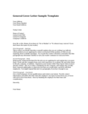 General Cover Letter Sample Template Free Download