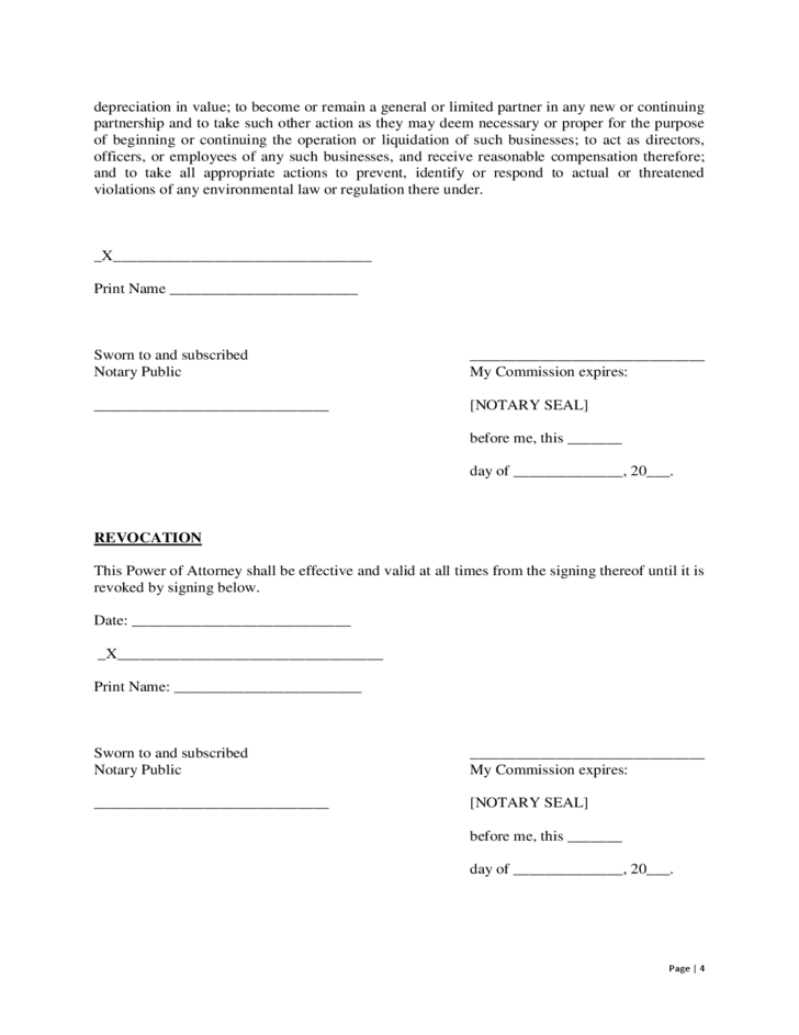 Power Of Attorney Georgia Form