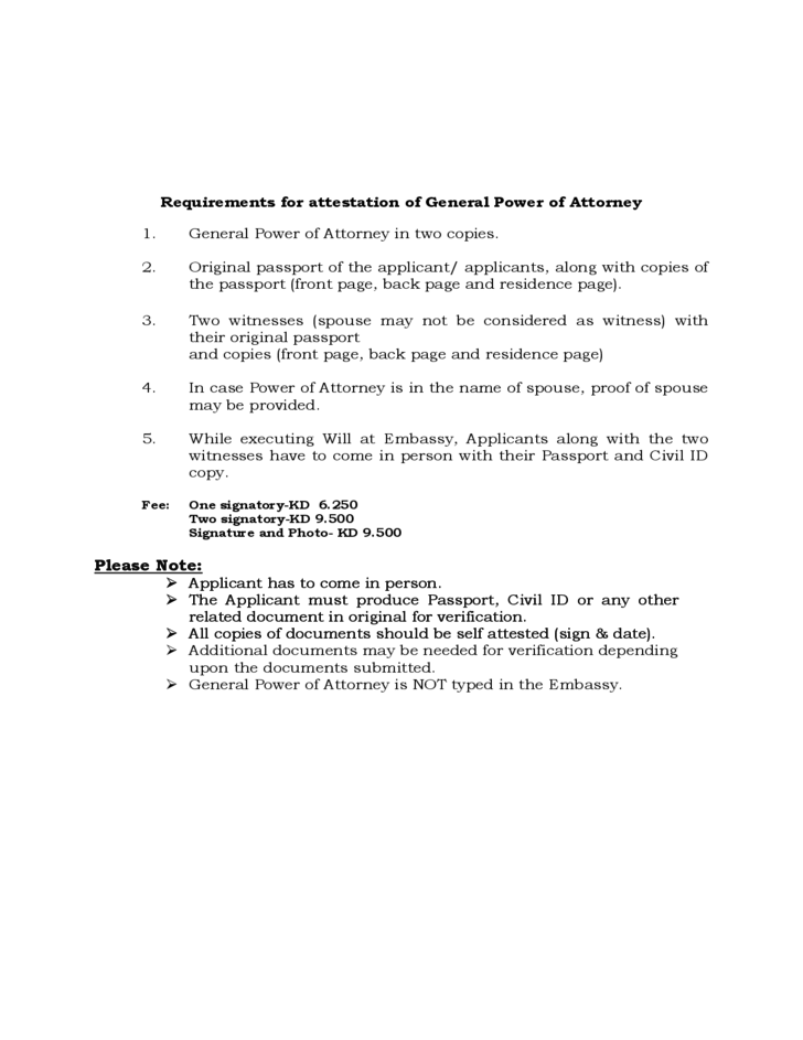 General Power Of Attorney Sample Free Download
