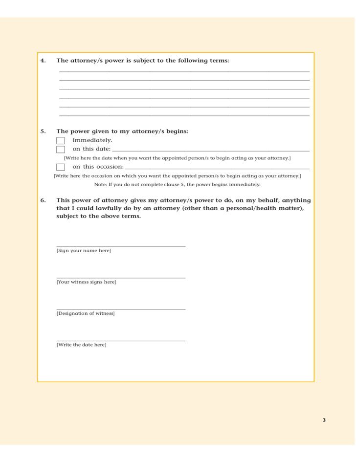 General Power Of Attorney Form Queensland Free Download