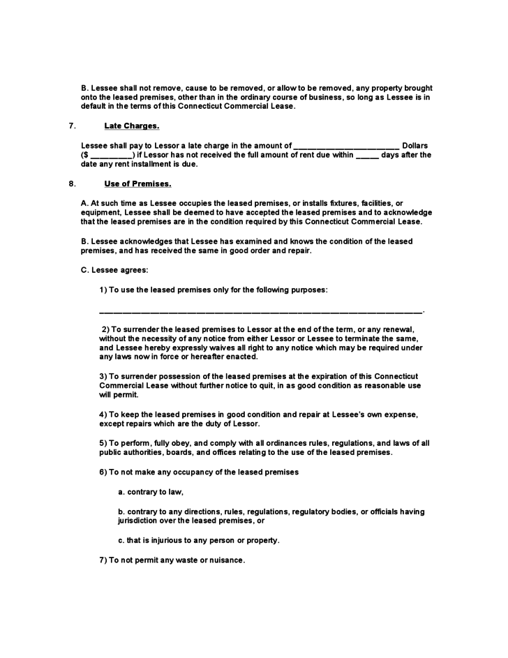 connecticut commercial lease agreement template free download