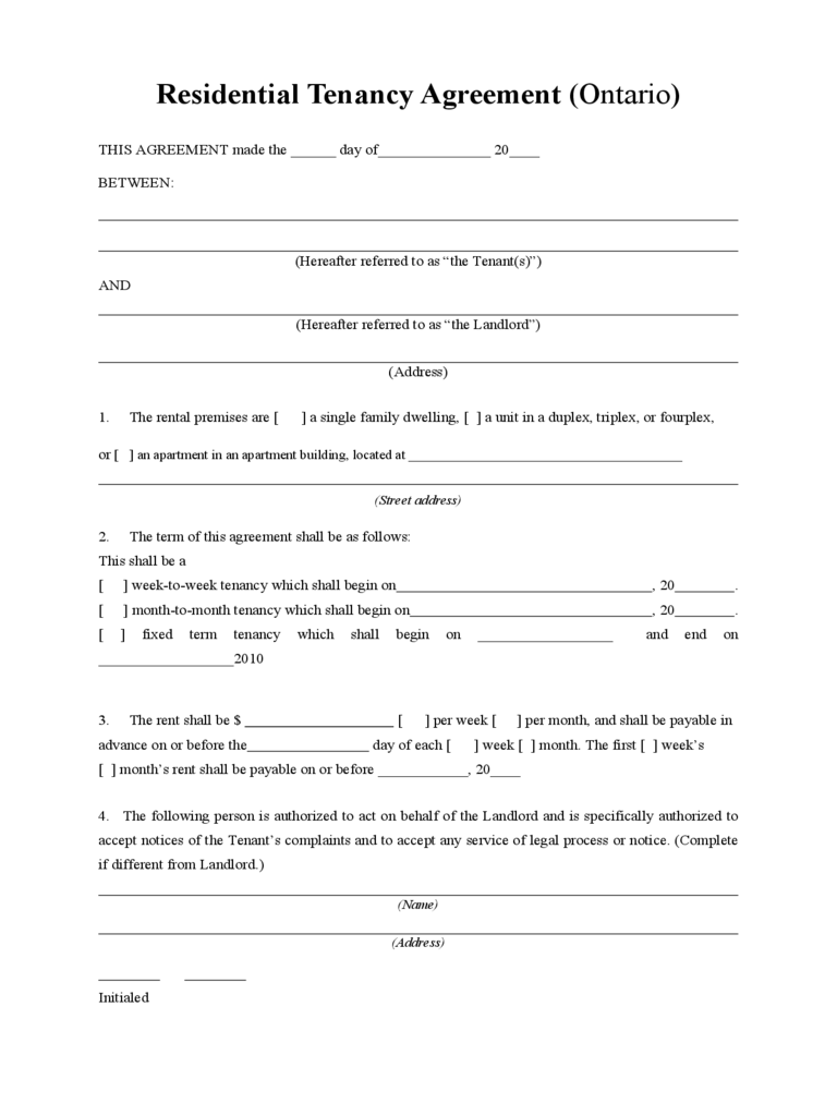 General Rent Lease Agreement Form 3 Free Templates in PDF Word – Tenancy Agreement Template Free Download