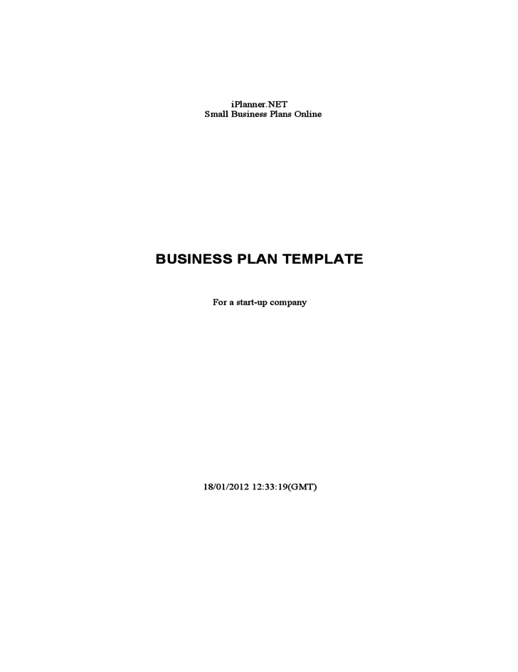 Business plan template for a start up company free download for Start up business plans free templates