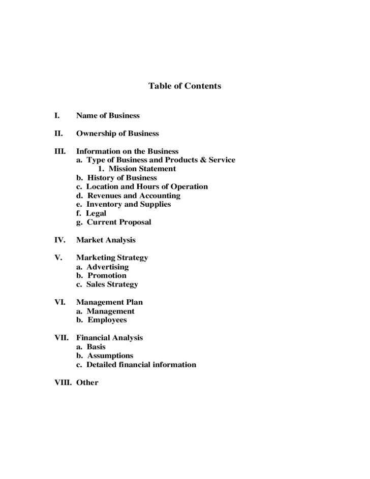 Sample Business Plan Free Download