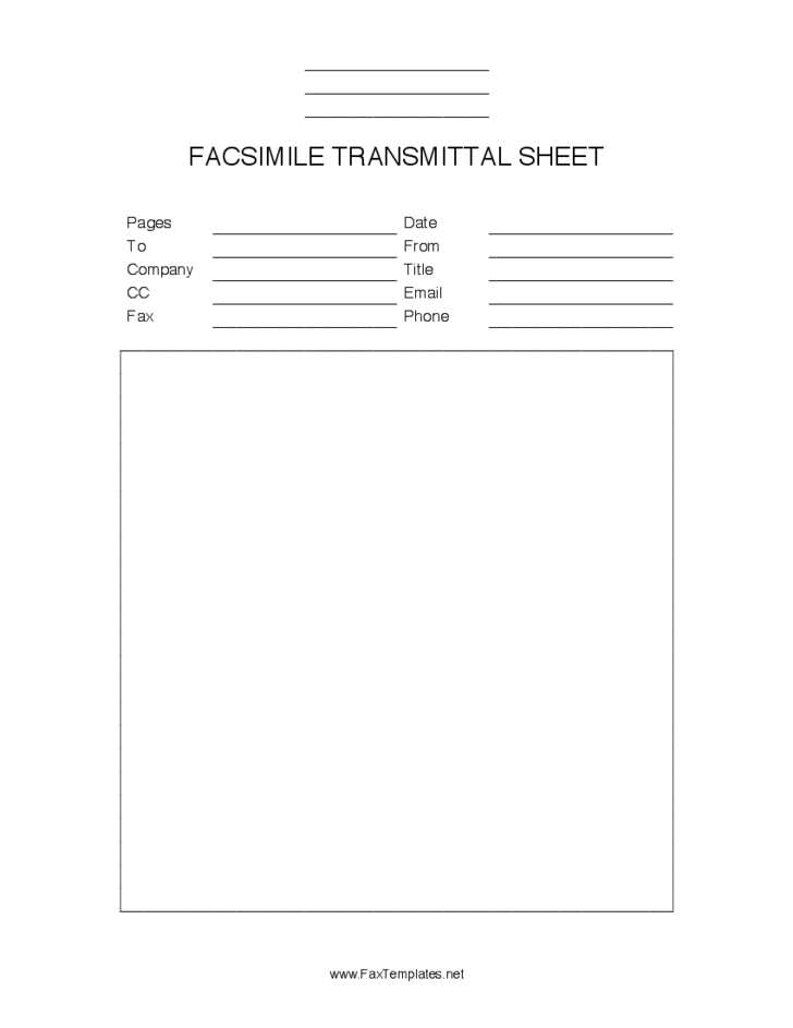 Free Fax Cover Sheets Black free fax cover sheets black white – Free Fax Cover Sheet Word