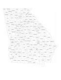 Georgia County Map with County Names Free Download