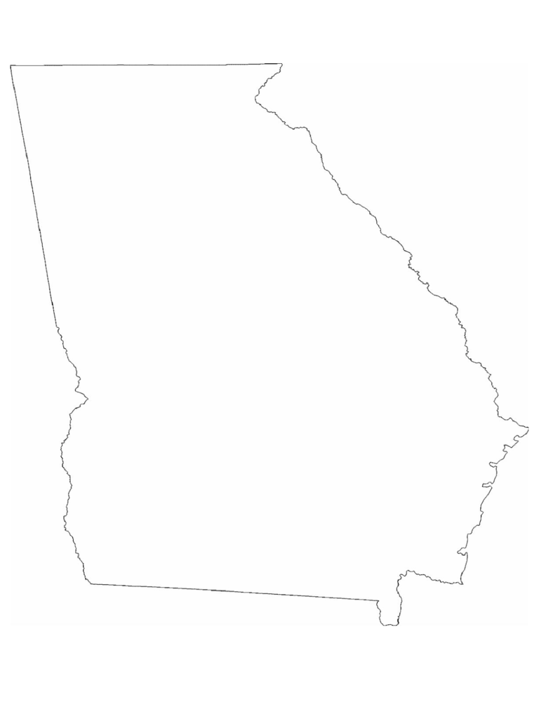 georgia-state-outline-map-d1 Open House Newsletter Template on for dance, for instagram,