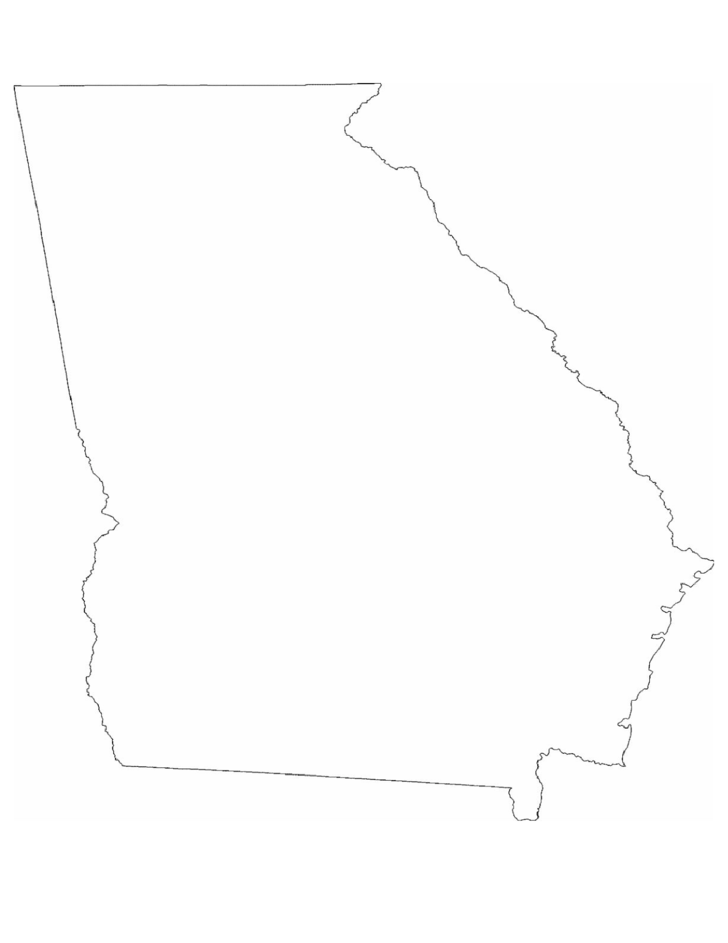 Georgia State Outline Map
