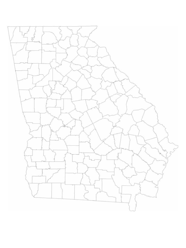 Georgia Map Template Free Templates In PDF Word Excel Download - Georgia map template