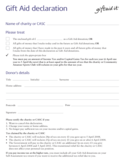 Gift Aid Declaration Free Download