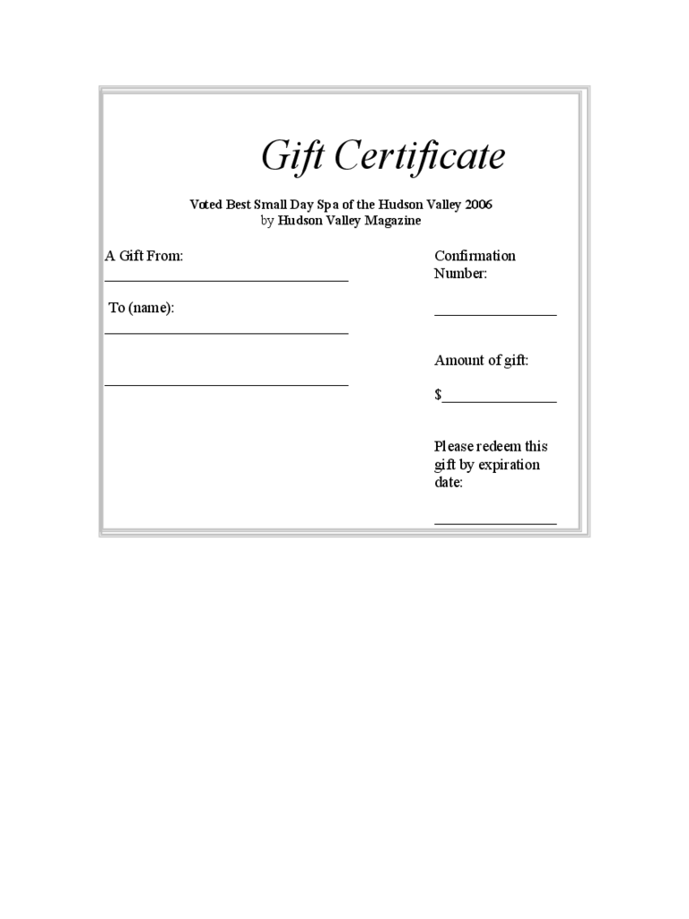 gift certificate form templates in pdf word excel gift certificate template
