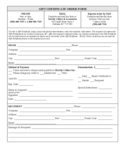 Gift Certificate Order Form Free Download