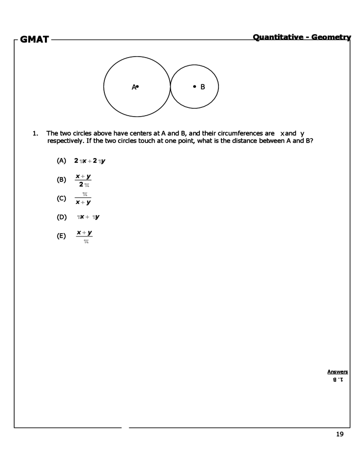 gmat sample questions and answers pdf