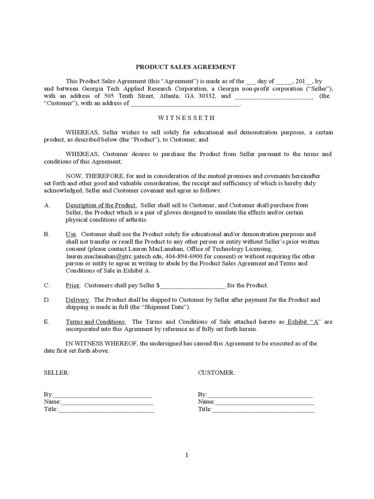 Goods Sale Contract Form - 3 Free Templates in PDF, Word, Excel Download