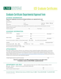 Graduate Certificate Departmental Approval Form - Florida Free Download