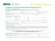 Graduate Certificate Departmental Approval Form - Florida