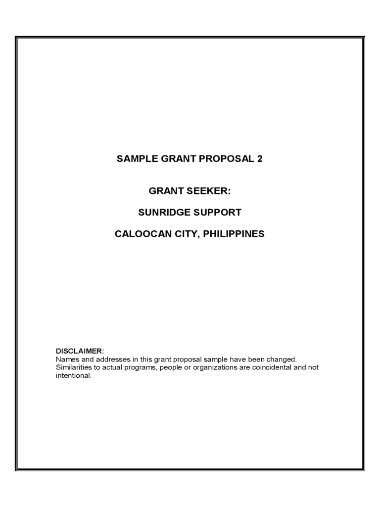 Grant Proposal Template 6 Free Templates In Pdf Word Excel Download