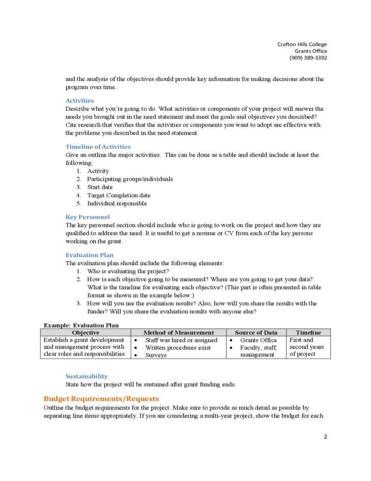 free sample grant proposal template .