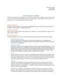 Example of Grant Proposal Template Free Download