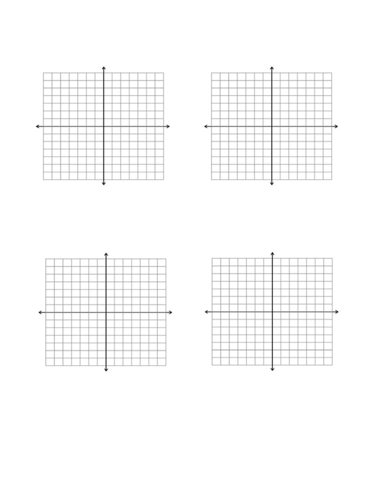 14x14 Axes Graph Paper Template