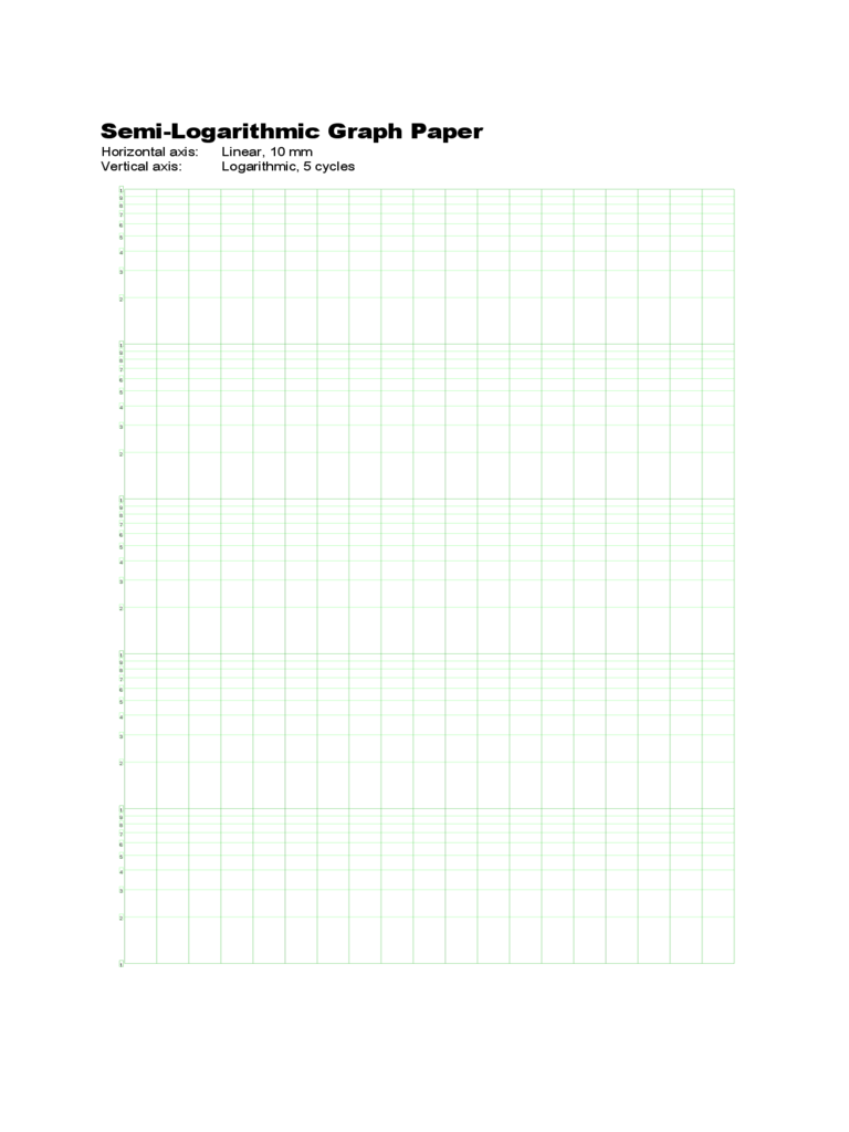 Semi Logarithmic Graph Paper With Axis