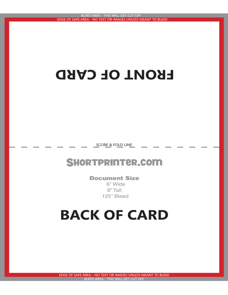 Folded Greeting Card Template