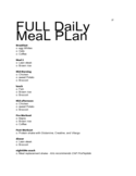 Full Daily Meal Plan Free Download