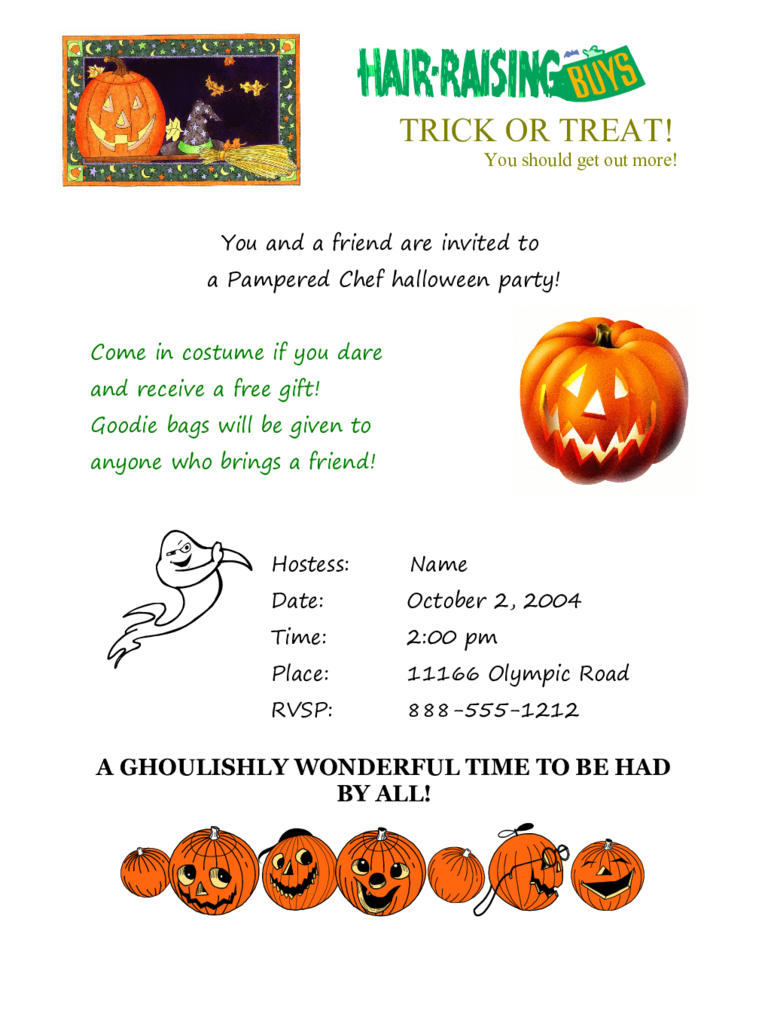 Halloween Invitation Sample Free Download