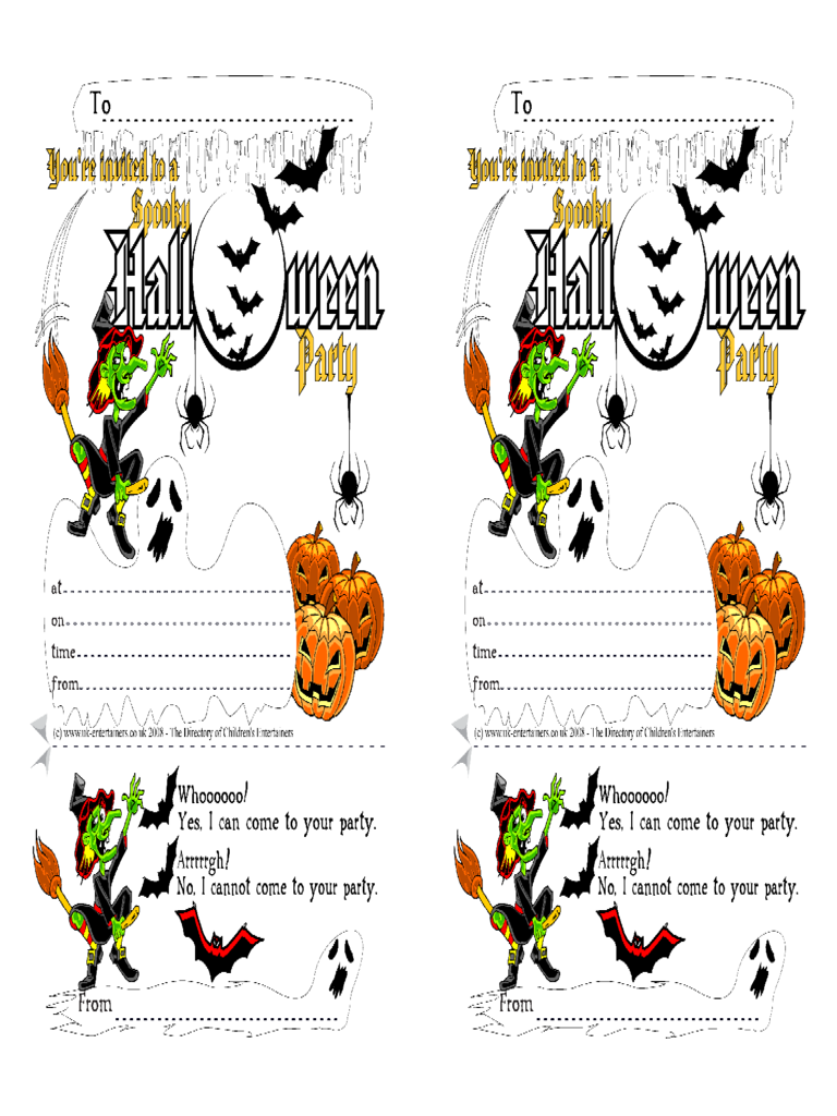 Halloween Party Invitation Card Free Download