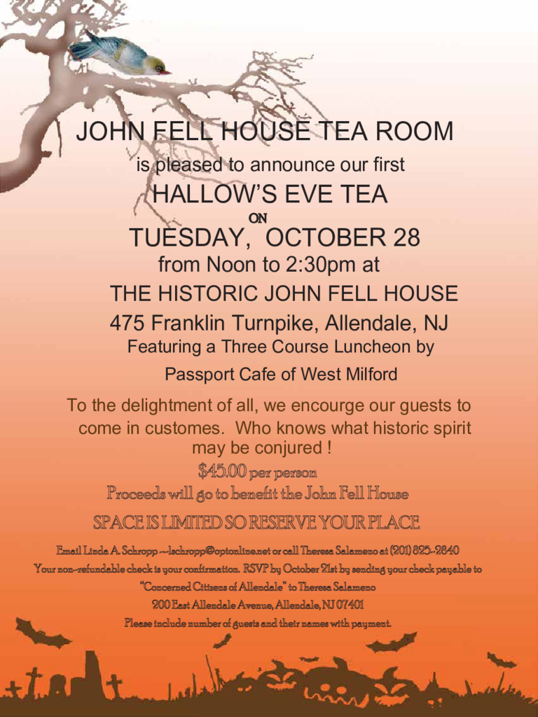 Halloween Tea Room Invitation Template