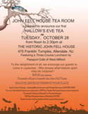 Halloween Tea Room Invitation Template Free Download