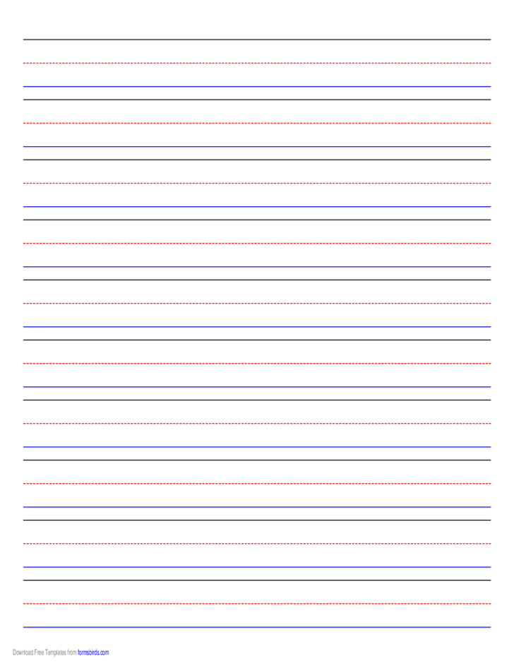 penmanship paper - 10 colored lines