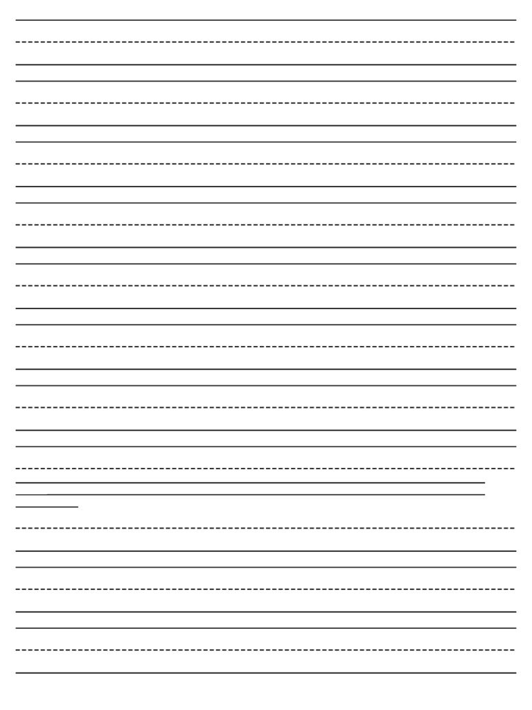 Handwriting Paper Template