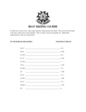 Hat Sizing Guide Free Download
