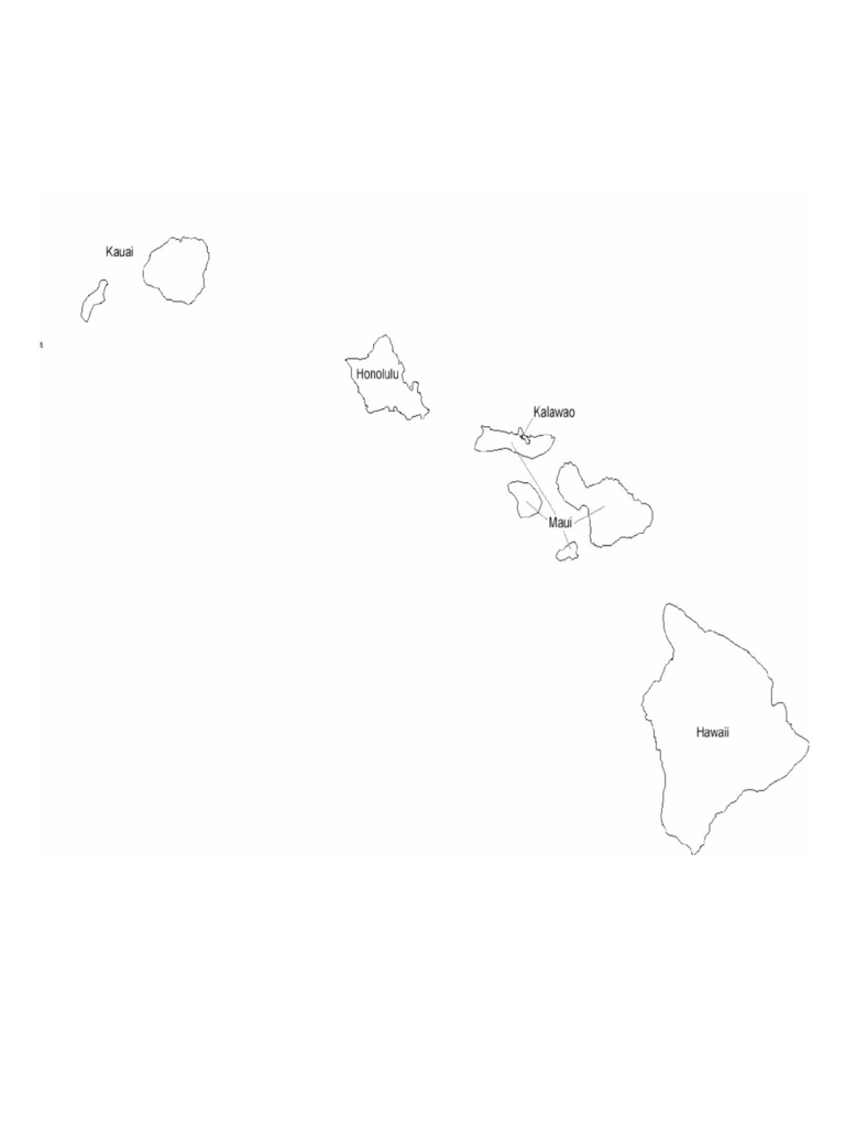 Hawaii County Map with County Names