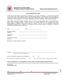Hazard Report Template Free Download