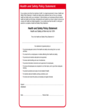 Health and Safety Policy Statement Free Download