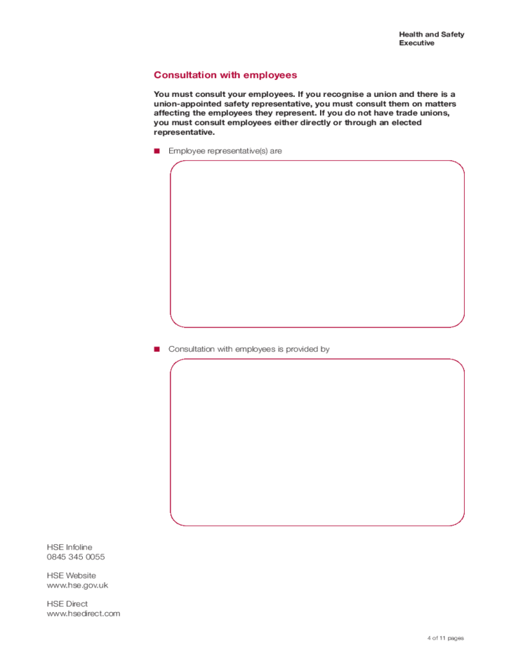 Health and Safety Policy Statement Template