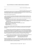 Health Power of Attorney Form for Residents - Indiana