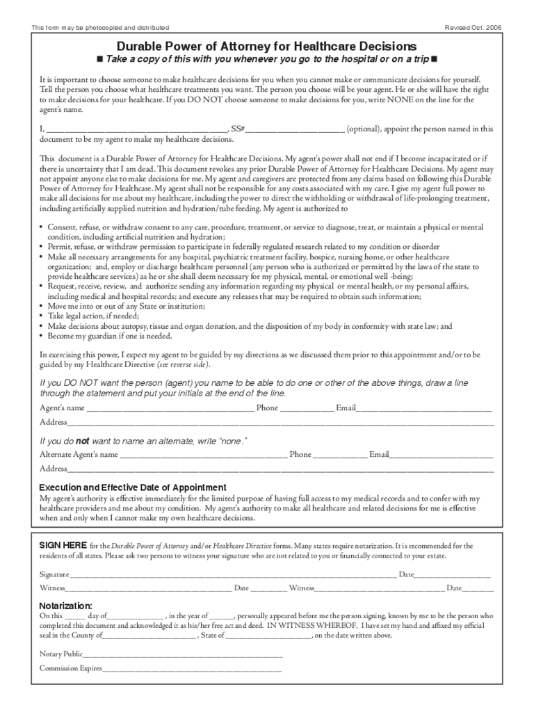 Health care power of attorney form 46 free templates in pdf word durable power of attorney for healthcare decisions falaconquin