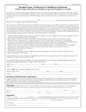 Durable Power of Attorney for Healthcare Decisions Free Download