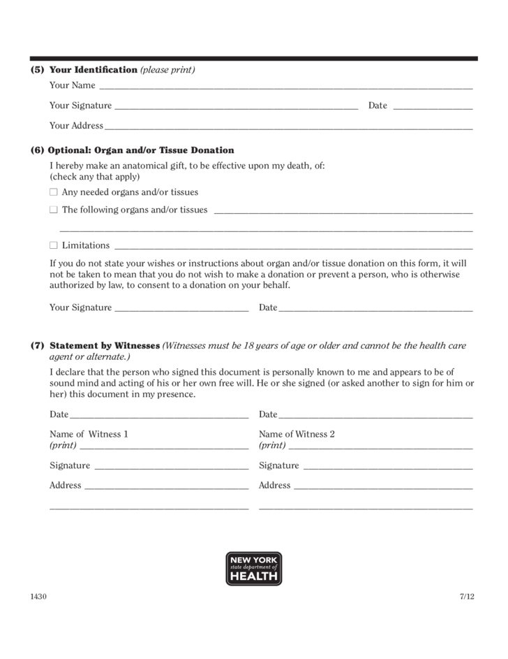 health care proxy form