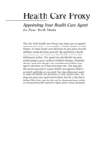 Health Care Proxy Form - New York Free Download