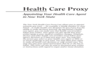 Health Care Proxy Form - New York