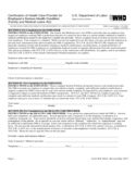 Certification of Health Care Provider for Employee's Serious Health Condition Free Download