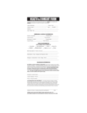 Health and Consent Form Sample Free Download