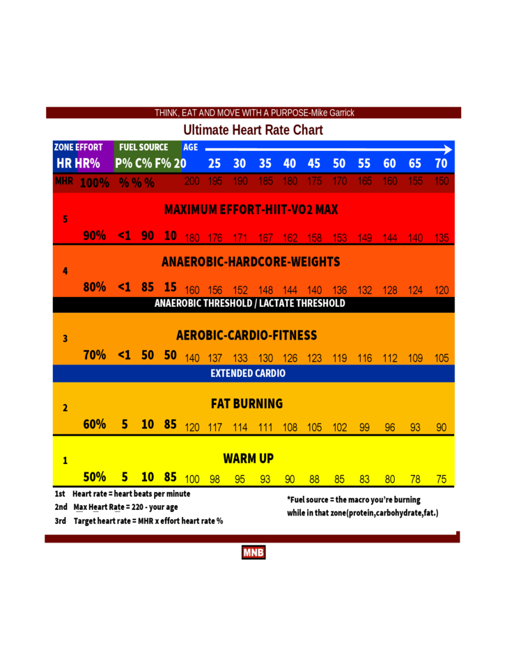 Ultimate Heart Rate Chart Free Download