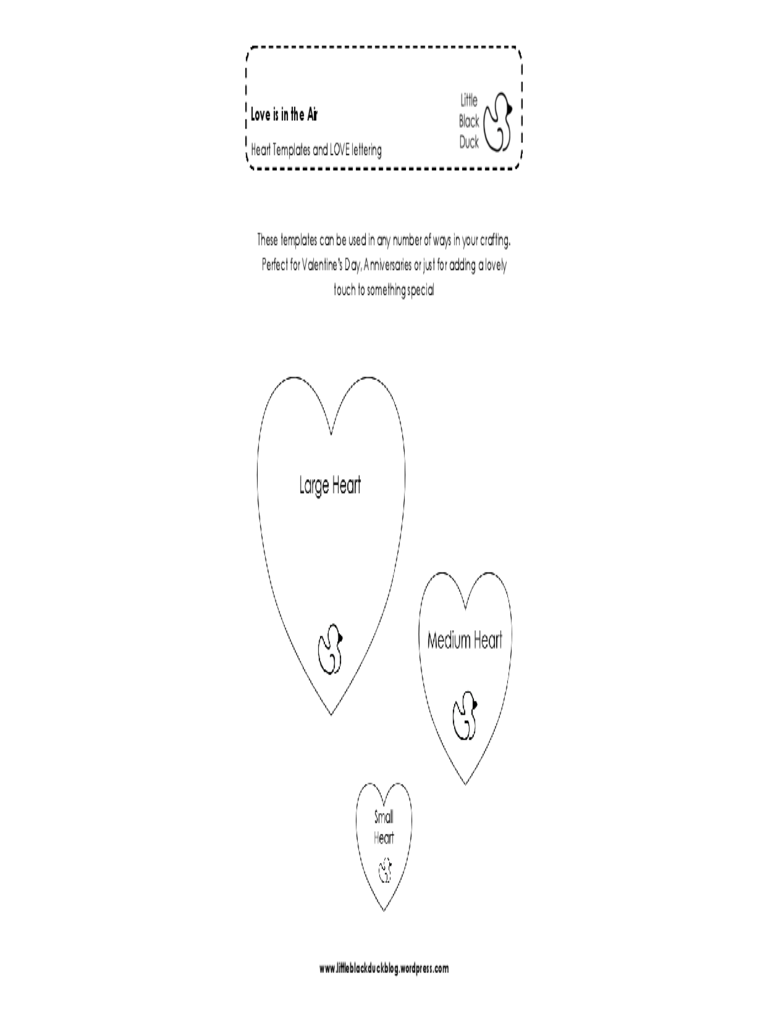 Heart Template Format Free Download