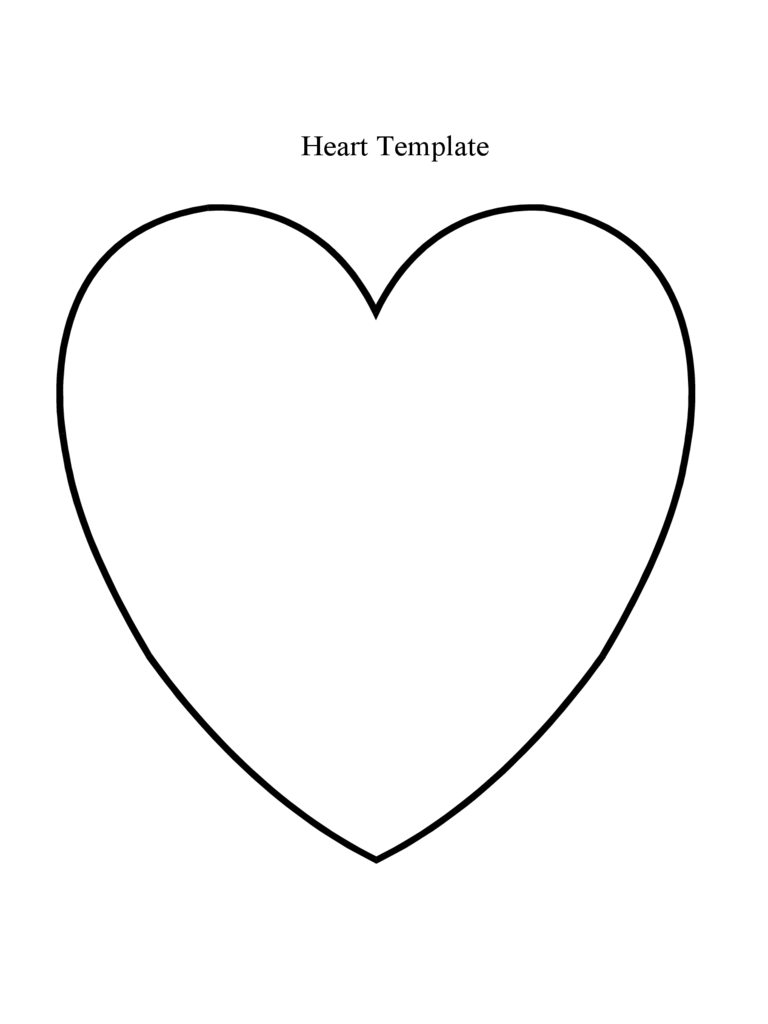 Simple Heart Template